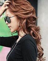长发大波浪无刘海 无刘海的发型设计