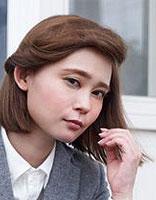 披肩短发发型扎法 直发发型半扎发图解