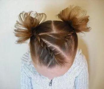 借鉴下下面宝宝最新发型编法吧,亲手将宝宝的短发编织成精致的辫子吧.图片