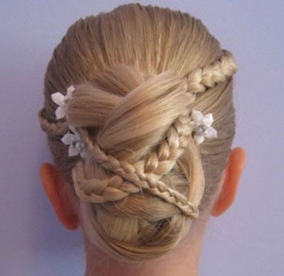 儿童盘头发型图解 儿童盘起来的发型