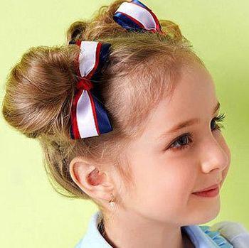 三岁儿童短发扎法 儿童简单一点的盘发发型图片