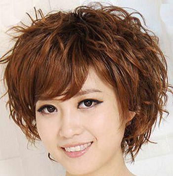 中年女人发型中长烫发-减龄发型