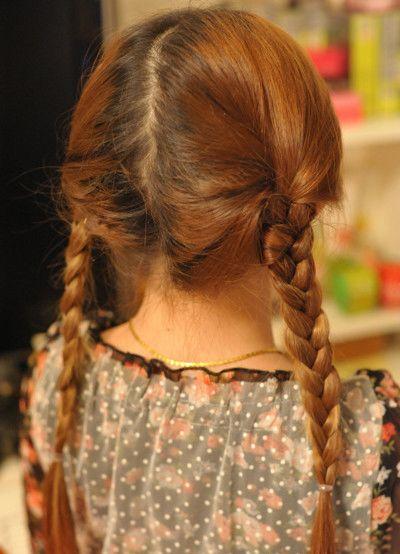 小女孩发型扎法教程既简单又可爱