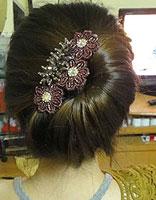 中年女性的盘头发型及方法 中年女性盘头发型图解