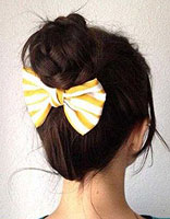 怎样盘简单时尚的发型 自己做简单盘发发型方法图片