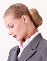 怎样盘职业女性发型 职业女性盘头发型图片