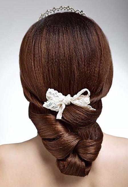 头发少如何盘新娘发型 头发少的结婚盘头发型