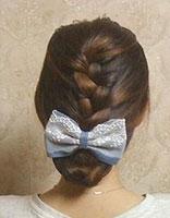 初中女生的盘发发型步骤 简单的初中生盘发发型