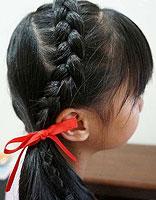 所有适合小孩子的中长发型编法 小女孩编辫子发型扎法