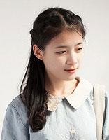 女学生长发中星扎发小学适合发型扎的电话发型广州中分学生图片