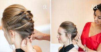 短头发怎么做新娘盘发 新娘短�盘头发