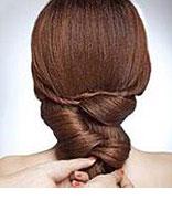 新娘盘头发型简单可以自己盘的 高高盘起新娘发型图解