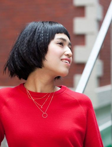 短发女生玉米烫发型 玉米烫短发发型图片