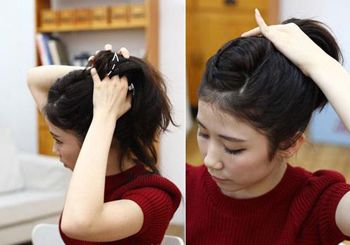 圆脸露额头头发如何扎好看 露额头扎头发的方法