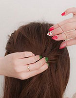 怎样梳没有刘海的头发 扎头发的技巧要没有刘海