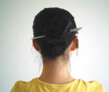 簪子盘发的发型及图解 适合50岁女人发型盘发