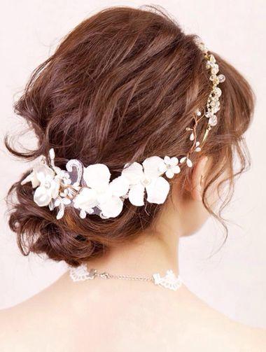 教我盘个简单又大方的新娘发型 新娘盘发发型图片中长发[新娘发型]-图片