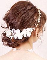 短头发新娘盘头发有多少种盘法 短发新娘盘头