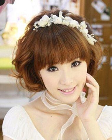 齐刘海剪什么发型好看 婚礼齐刘海发型