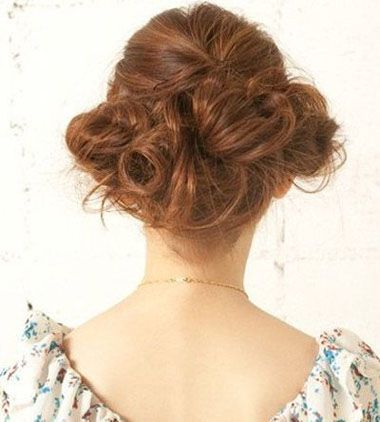 长发简单发型盘法图解 气质盘发发型图片步骤图片
