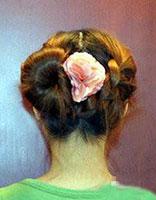 学生如何使长头发盘起来 学生盘头发的方法图解