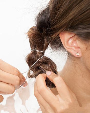 中分直发怎么扎头发好看 中分直发发型扎法