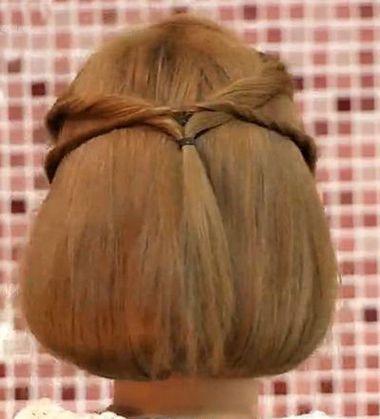 长头发盘短一点的扎法图解 短长发盘头发造型方法