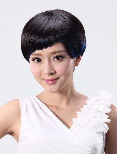 老年女性直发超短发发型图片库 老年人的直发发型图片