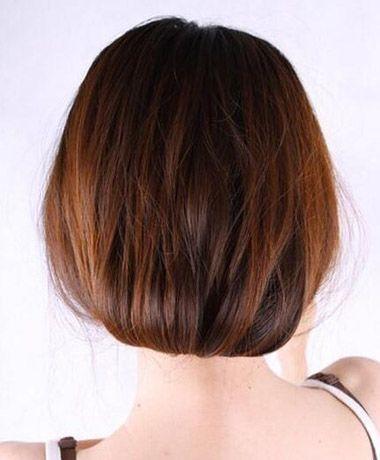 长直发变短发的扎法 直发短发造型扎发方法