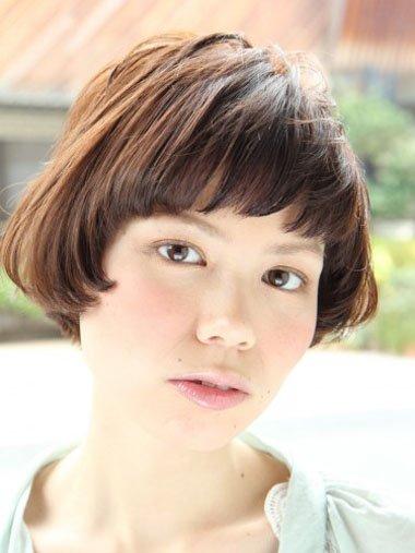 中学生沙宣短发发型图片 女中学生帅气短发发型[沙宣发型]-女士沙宣发图片