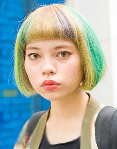 2016学生沙宣短发发型 学生头短发发型图片[学生发型]-女士沙宣发型