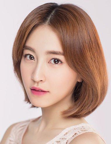 菱形脸适合的37分头发图片 菱形脸女生美发图片