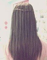 超长发直发简单好看扎发图解 长发直发怎么扎好看步骤