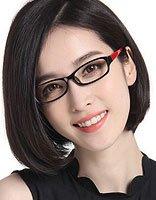 40岁女人直发短型带眼镜 直发发型戴眼镜