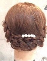 中学生发型女生短发扎法 短发学生发型