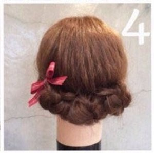 短发怎么盘小学生可爱版 短发学生简易绑发