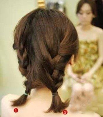 学生短头发简单的扎法 女学生短头发扎发