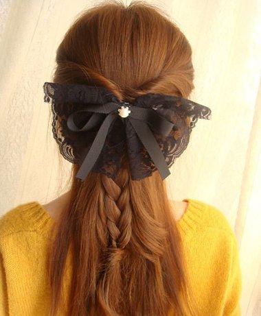 夏季直长头发的扎法图解