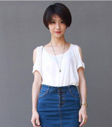 超短发发型如何穿衣 女生最新超短发型图