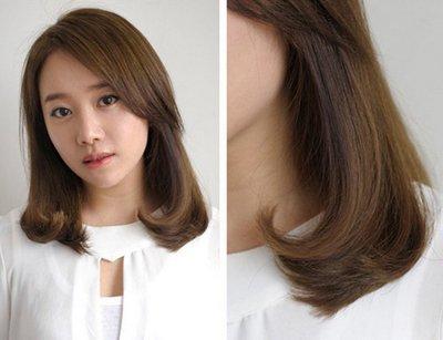 上短下长的发型直发 女生短发直发发型图片