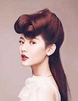新娘发型+菱形脸 菱形脸适合的发型图片