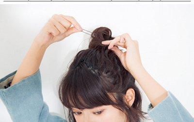 韩国中学生齐耳短发怎么扎好看 韩版中学生短发扎法图片