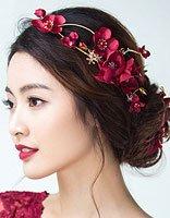 双十一狂欢节新娘发饰买买买 新娘盘发发饰的正确搭配