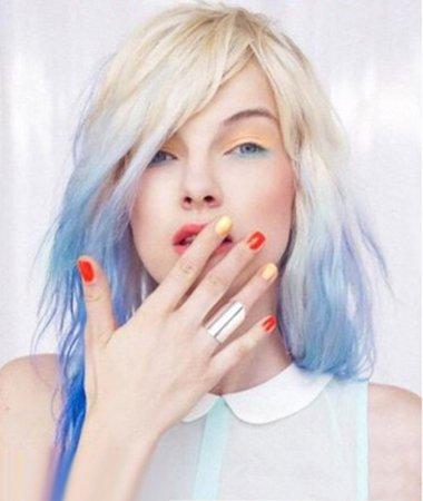 夏天让发丝如大海清凉 最炫蓝色系染发图集