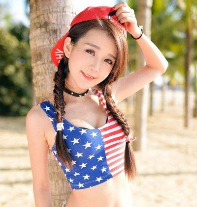 天气这么热! 女生就要扎发+泳装性感清凉整个夏天