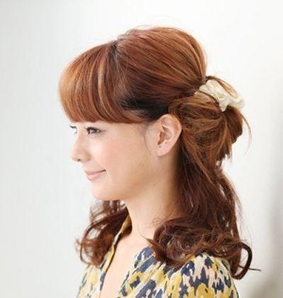 头发稀少的梨花头的扎法 弄了梨花头后如何扎头发才好看