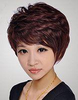 韩式斜刘海中长发发尾微卷发型发型 斜刘海中长卷发