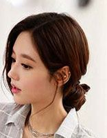 大圆脸发型图片 大圆脸适合的发型韩式图片