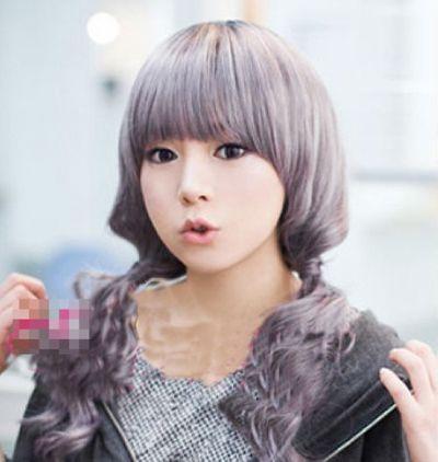 大卷发发型图片 女生长发大卷发型 韩式男生大卷发型 发型师姐图片