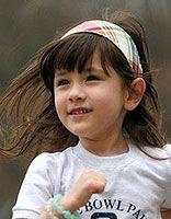 六岁女童学生短发图 儿童学生头图